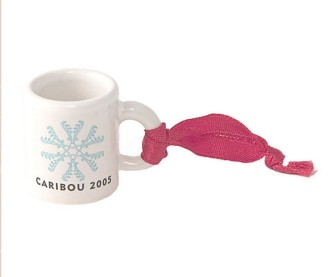 White Mini Mug with 'Bou Flake
