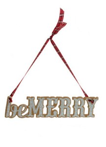 2011 Be Merry Wooden Ornament