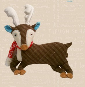 2011 Plush Caribou Stuffed Animal Image