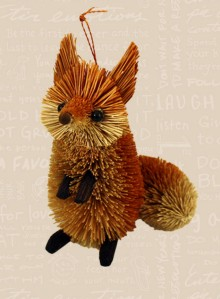 2012 Cross Fox Ornament Image