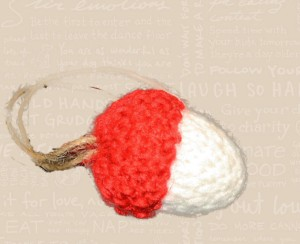 2012 Knit Acorn Knit Red and White Image