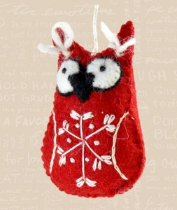 2013 Fair Trade Red Snowflake Owl Image