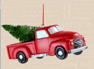 2013 Red Truck Ornament Image