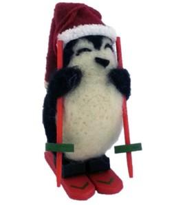 2014 Woolen Penguin Skiing Image