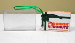 2001 DD Holiday Donut Box Dk Gn Ribbon