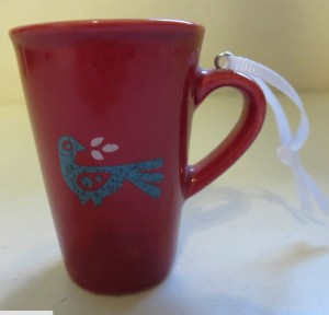 2011 Red Holiday Mug Ornament Back