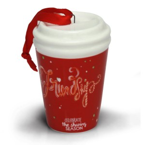 2014 GJ Red To Go Cup Ornament