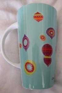 2007 Teal Multi Orn Mug