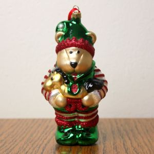 2001 Barista Bear Ornament