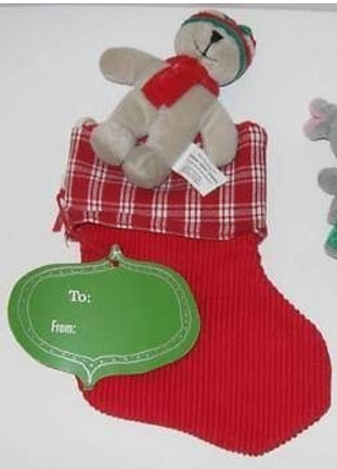 2002 Courderoy Stocking and Bear