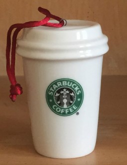2004 White To Go Cup Ornament