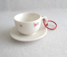 2005 Ornament Cup and Saucer Mug