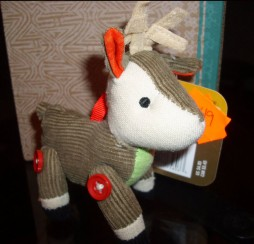 2008 Fabric Deer Ornament