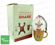 2010 Japan Mug Snow Globe Orn Clown Gold