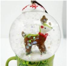 2010 Japan Mug Snow Globe Orn Reindeer Globe