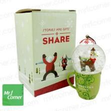 2010 Japan Mug Snow Globe Orn Reindeer1