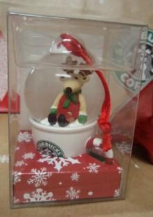 2010 Reindeer Snow Globe Japan pkgd