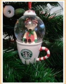 2010 Reindeer Snow Globe Ornament