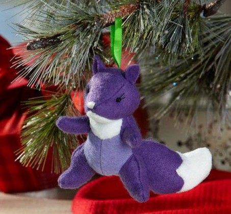 2011 Fabric Fox Ornament
