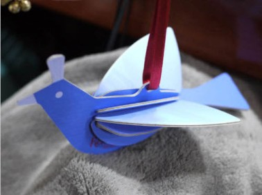 2012 Dove Cut Out Ornament Korea Blue Finished