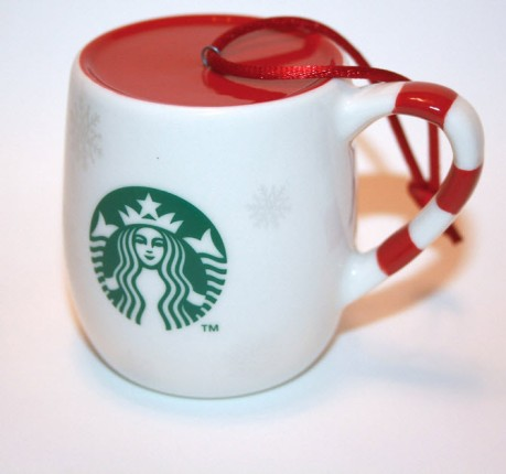 2013 Japan Holiday White Snowflake Cup Candy Cane
