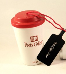 2015 Peet's To Go Cup Back Side Red Top - Copy