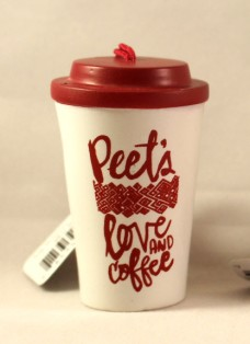 2015 Peet's To Go Cup Front Side Red Top - Copy