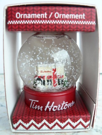 2015 Tim Hortons Snowglobe Ornament
