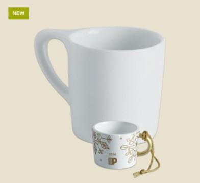 2017 Gold Snowflake Mug